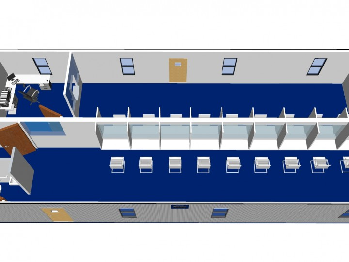 Bank office container house